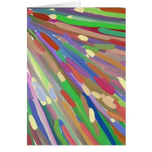 Línea colorida modelo tarjeta de felicitación