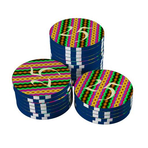 Línea colorida vertical modelo juego de fichas de póquer