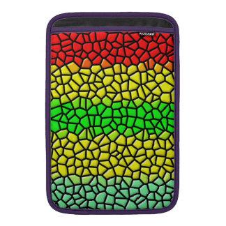 línea colorida vitral funda macbook air