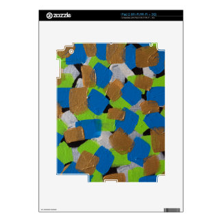 LineA Contemporary Art Lime Green& Blue iPad 2 Skins
