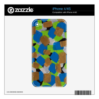 LineA Contemporary Art Lime Green& Blue iPhone 4S Decals