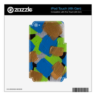 LineA Contemporary Art Lime Green& Blue iPod Touch 4G Skins