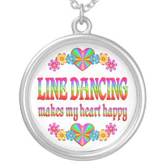 Línea corazón del baile feliz colgante redondo