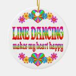 Línea corazón del baile feliz ornamento para reyes magos