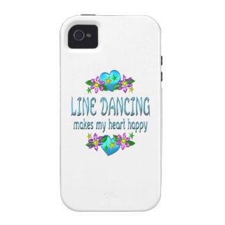 Línea corazón del baile feliz vibe iPhone 4 carcasa