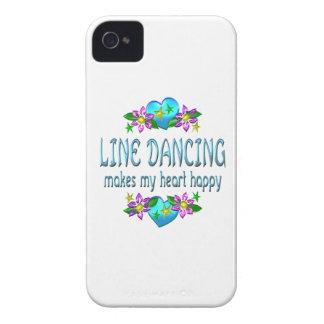 Línea corazón del baile feliz iPhone 4 carcasa