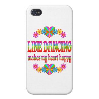 Línea corazón del baile feliz iPhone 4 carcasas