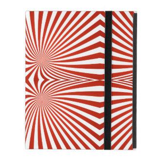 Línea curvada rojo modelo iPad carcasas