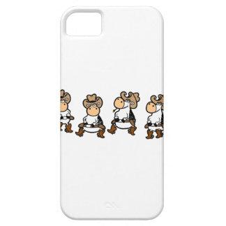 Línea dancin de la vaca iPhone 5 Case-Mate protector