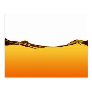 Línea de agua anaranjada postales