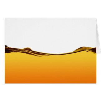 Línea de agua anaranjada tarjeta de felicitación