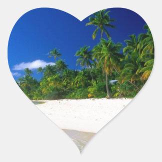 Línea de agua - idea asombrosa del regalo pegatina en forma de corazón