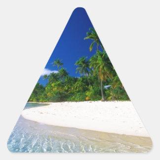 Línea de agua - idea asombrosa del regalo pegatina triangular