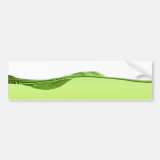 Línea de agua verde pegatina para auto