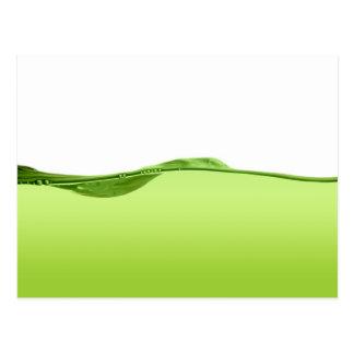Línea de agua verde tarjeta postal