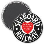Línea de aire del litoral logotipo ferroviario del imán de frigorifico