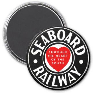 Línea de aire del litoral logotipo ferroviario del imán redondo 7 cm