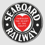 Línea de aire del litoral logotipo ferroviario del pegatina redonda