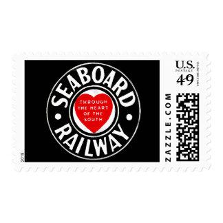 Línea de aire del litoral logotipo ferroviario del sello postal