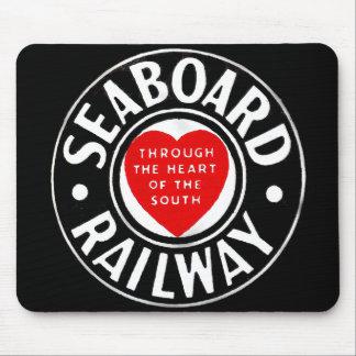 Línea de aire del litoral logotipo ferroviario del alfombrilla de ratones