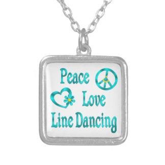 Línea de amor de la paz baile colgante