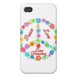 Línea de amor de la paz baile iPhone 4/4S funda