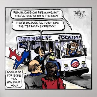 Línea de autobús de Obama Impresiones
