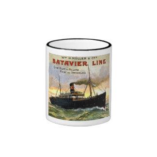Línea de Batavier - viaje del vintage Taza