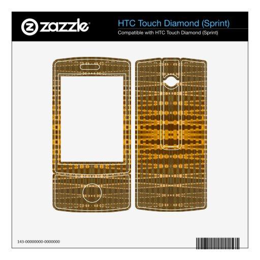 Línea de bronce amarilla modelo HTC touch diamond calcomanía