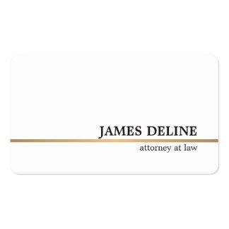 Línea de cobre blanca minimalista abogado tarjetas de visita