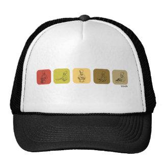 Línea de cocineros gorras de camionero