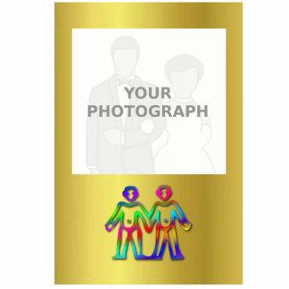Línea de color de la muestra de la estrella del fotoescultura vertical