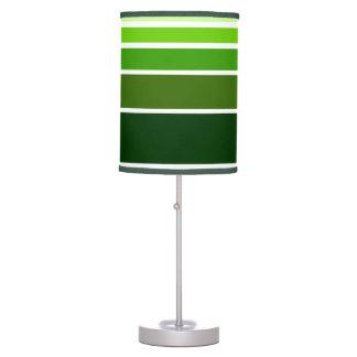 Línea de color verde lámpara del modelo