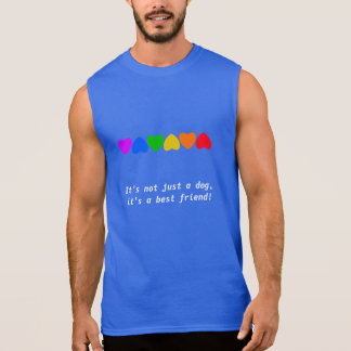 Línea de corazón del arco iris del orgullo camiseta sin mangas