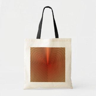 línea de corazón diseño bolsa tela barata