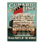 Línea de Cunard (a todas las partes del mundo) pos