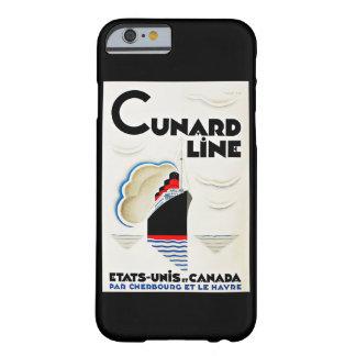 Línea de Cunard del art déco Funda De iPhone 6 Barely There