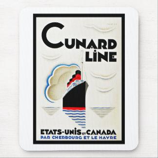 Línea de Cunard del art déco Alfombrilla De Ratón