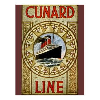 Línea de Cunard del vintage del RMS Berengaria Tarjeta Postal