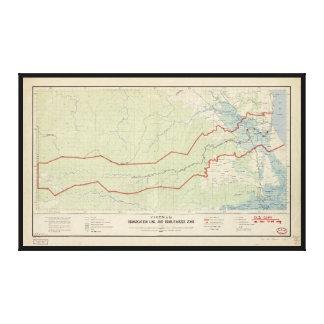 Línea de demarcación de Vietnam y zona Impresión En Lienzo