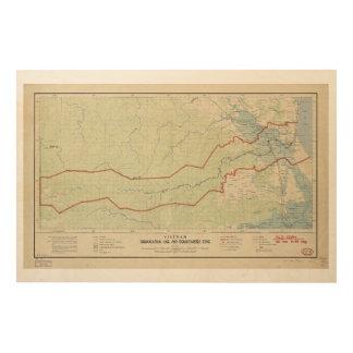 Línea de demarcación de Vietnam y zona Impresión En Madera