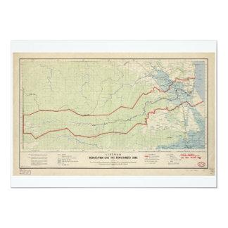 """Línea de demarcación de Vietnam y zona Invitación 5"""" X 7"""""""