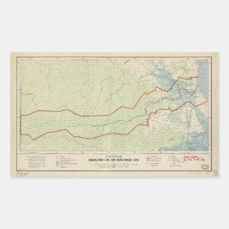 Línea de demarcación de Vietnam y zona Pegatina Rectangular