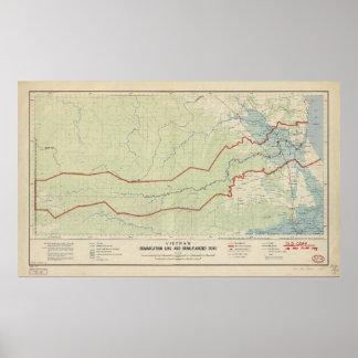 Línea de demarcación de Vietnam y zona Póster