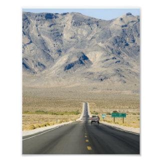 Línea de estado de California y de Nevada Fotografías