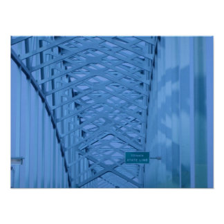 Línea de estado de Illinois del puente Impresiones