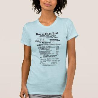 Línea de ferrocarril del azul real 1908 señoras az camisetas