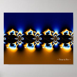 Línea de fractal de la maravilla posters