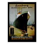 Línea de Hamburgo-Amerika Tarjetas