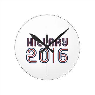 LÍNEA DE HILLARY 2016 RETRA - .PNG RELOJ